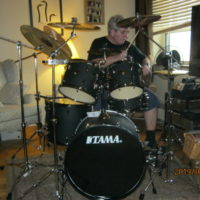 MATURE CLASSIC ROCK AND BLUES DRUMMER