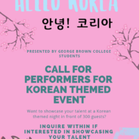Looking for Korean artists for Hello! Korea April 3, 2019