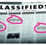 Musicians Classifieds Ads Image